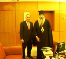 Στο Υπουργείο Παιδείας ο Μητροπολίτης Σεραφείμ – Συναντήθηκε με τον αναπληρωτή υπουργό Κ. Αρβανιτόπουλο