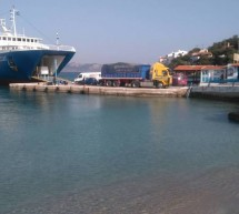 Πρόσκρουση του Ε/Γ-Ο/Γ ΑΧΑΙΟΣ στο λιμάνι στο Αγκίστρι