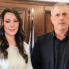 Η Ανδριάνα Ζαρακέλη με τον Γιάννη Μώραλη στις εκλογές του Μάη