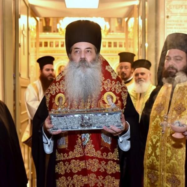 Εως τις 11 Νοεμβρίου στον Πειραιά το ιερό λείψανο της δεξιάς χειρός του Αγ. Σπυρίδωνος