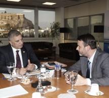 Συνάντηση Πατούλη – Παναγόπουλου για έργα υποδομής στη Σαλαμίνα