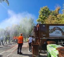 Κορυδαλλός: Υπερσύγχρονο απορριμματοφόρο και κάδοι για βιοαπόβλητα
