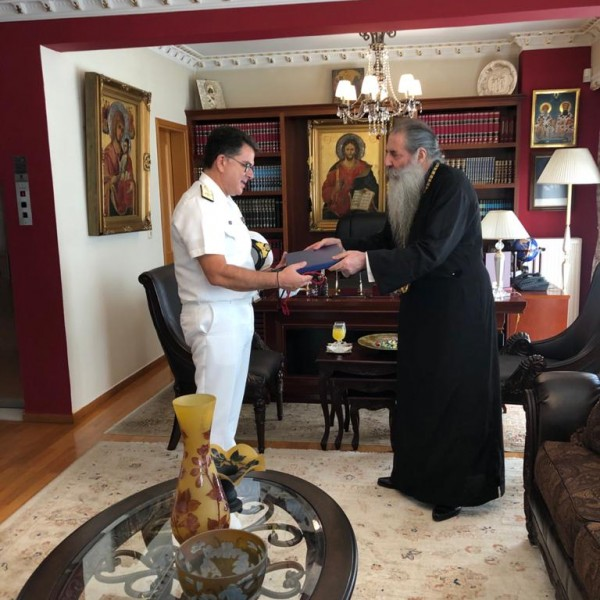 Πειραιάς: Εθιμοτυπική συνάντηση του νέου Λιμενάρχη με τον Μητροπολίτη